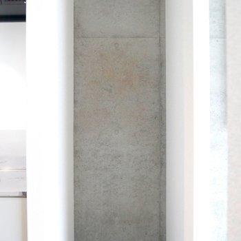 キッチンの右側は冷蔵庫スペース!