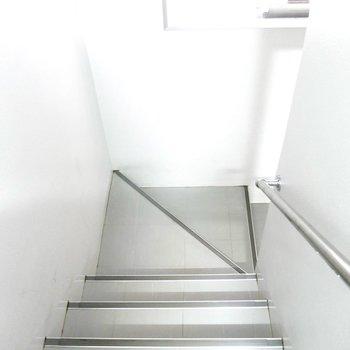階段を上がって降りて◎