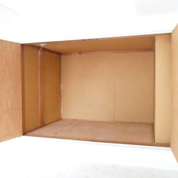 収納もあります、こちらはお布団を入れるスペースとして活用できそうですね◎