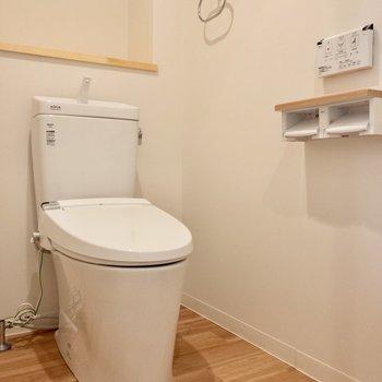 トイレは温水洗浄付き