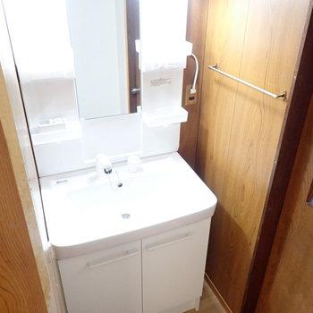 洗面台もきれいでした!