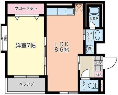 東京のお隣さん。 の間取り