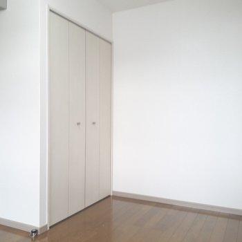 こうしてみると、お部屋の中でのクローゼットの存在感は大きめ。