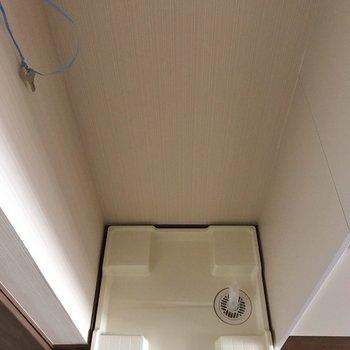 キッチンの隣に洗濯機置場です。※写真は1階の同間取り別部屋のものです