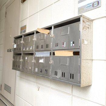 1階、階段下にメールボックスがあります。毎日確認しましょう。