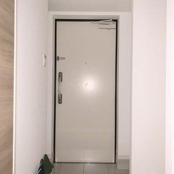 右手に洗濯機がおけます ※写真は2階の同間取り別部屋のものです