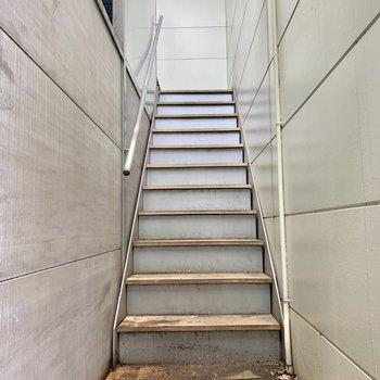 扉を開けると、階段が