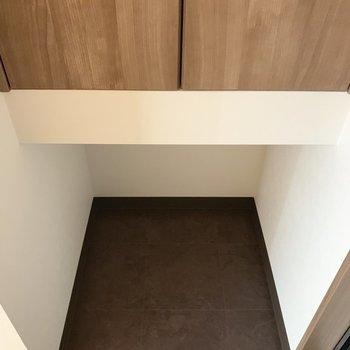 下部分にはブーツとか置いてても○(※写真のお部屋は2階同間取り別部屋のものです)