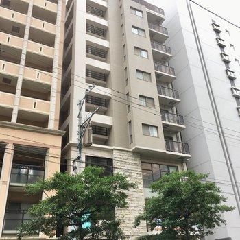 2階は歯医者さんになっています。10階建てのマンション。