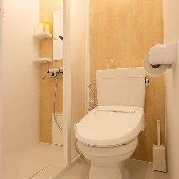 ウォシュレット付きのトイレに、シャワーブース!※似た間取りの別部屋