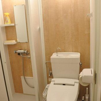 トイレの横にはシャワーブース!