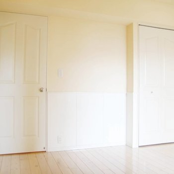 左の扉はキッチンへ、右の扉は……?