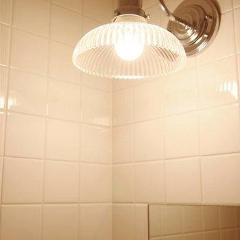 洗面上部の照明までこだわりがつまってます。
