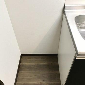 隣に冷蔵庫も置けそう!(※写真は6階同間取り別部屋のものです)