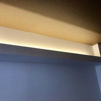 上にもライトがあります!(※写真は6階同間取り別部屋のものです)