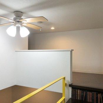 シーリングファンがよく似合うお部屋です。