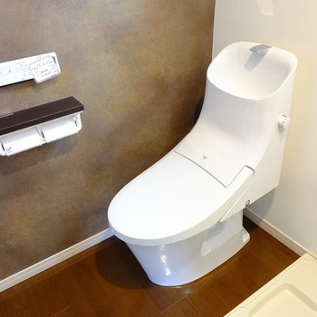 トイレはカフェみたいな形