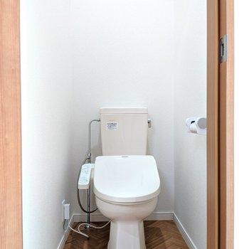 ヘリンボーンのかわいいトイレ※写真は前回募集時のものです