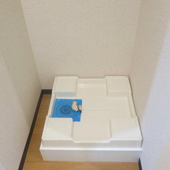 洗濯機は室内に◎ (※写真は3階の反転間取り別部屋のものです)