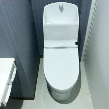 トイレ、結構新しいタイプじゃない?