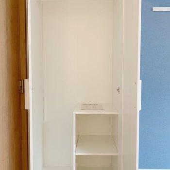 収納家具が設置されてました。※写真は3階の同間取り別部屋のものです