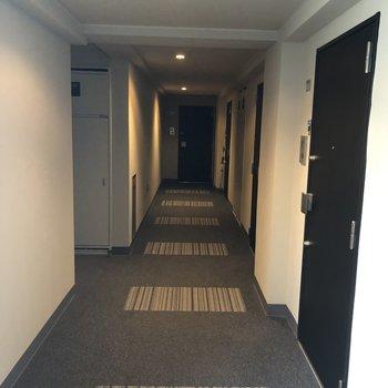 廊下はホテルみたい。