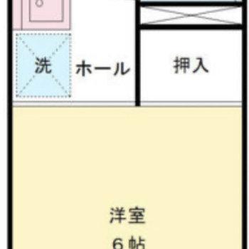 水回りは玄関側にあり、生活空間と区別できますよ。