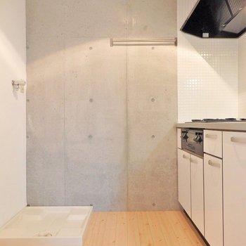 洗濯機置き場と同じスペースに。