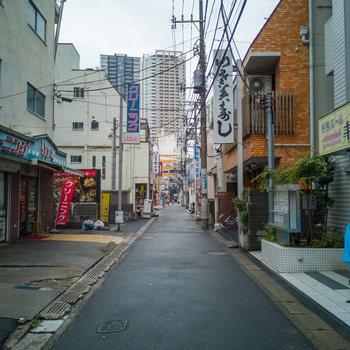駅までは、こんな道を抜けて。