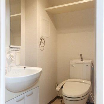 脱衣所にはトイレも