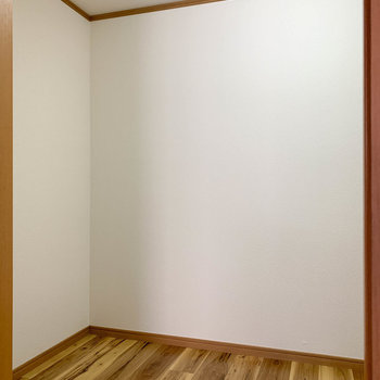 【ウォークインクローゼット】奥の部屋は、ウォークインクローゼットになっているみたいです。