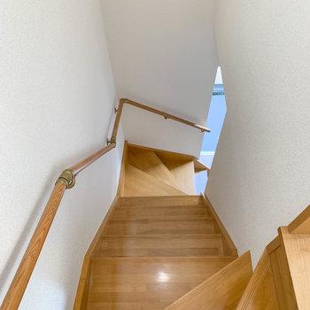 では、一旦階段を降りて下の階へ。