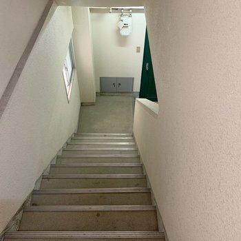 共有部。ここまでは階段です!