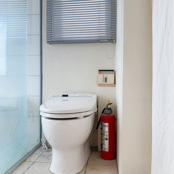 トイレ君!ちなみにカーテン付けれるので、ご安心を。