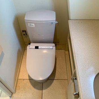 こっちのトイレの方が、落ち着きそう。