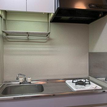 キッチンは一口ガス。