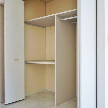奥行きのある大きな収納と、、、※写真は同タイプの別部屋