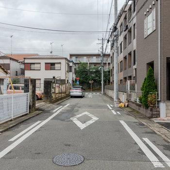 周辺は住宅街。ゆっくり暮らせそうです。