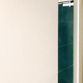 フックや鏡がある玄関