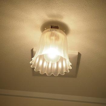 トイレの電球です!レトロでかわいい
