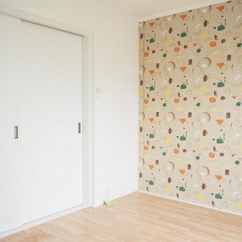 洋室①】扉を閉めるとこうなります