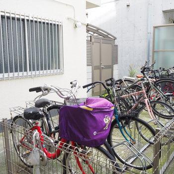 駐輪場です。月500円で利用可能!