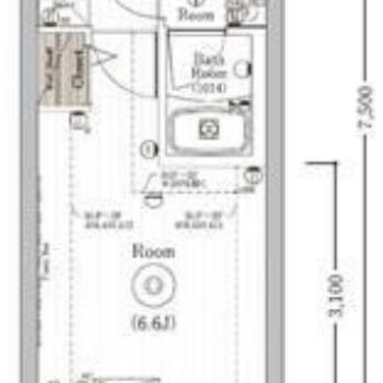 1人暮らし向けの1Kのお部屋です。