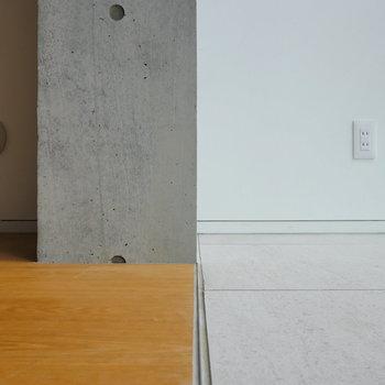 【ディテール】コンクリ×無垢床×タイル。