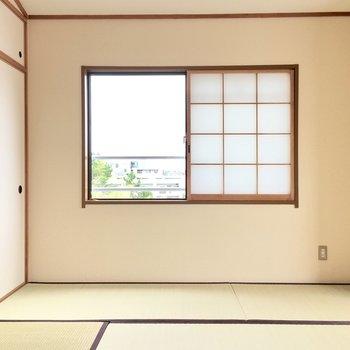 お隣の和室へ。い草のいい香りふわっと。