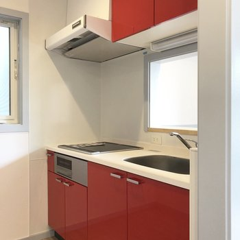【LDK】キッチンは赤い!
