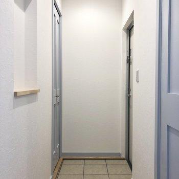 玄関もゆったりしています。