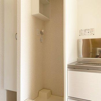 洗濯機置場はキッチンの隣に