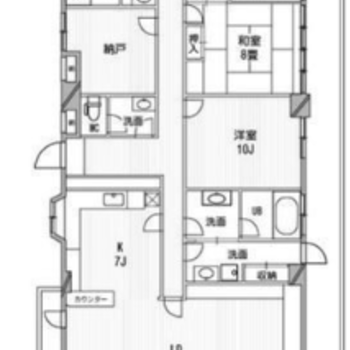 【間取り】たくさんお部屋があります。