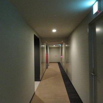ホテルのような内廊下ですね